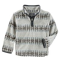Boys 4-12 OshKosh B'gosh® Tribal 1/4 Zip Pullover Fleece Top