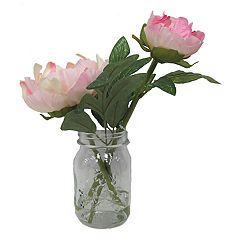 SONOMA Goods for Life™ Artificial Peony Mason Jar Flower Arrangement