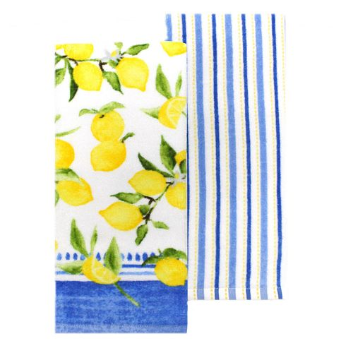 Food Network™ Striped Lemon Kitchen Towel 2-pack