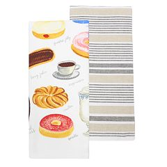 Food Network™ Donuts & Coffee Kitchen Towel 2-pk.