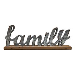 SONOMA Goods for Life™ 'Family' Farmhouse Table Decor