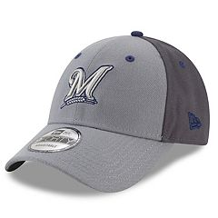 Men's New Era Milwaukee Brewers Gray Colorblock Cap