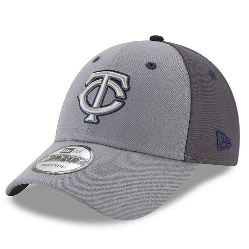 Men's New Era Minnesota Twins Gray Colorblock Cap