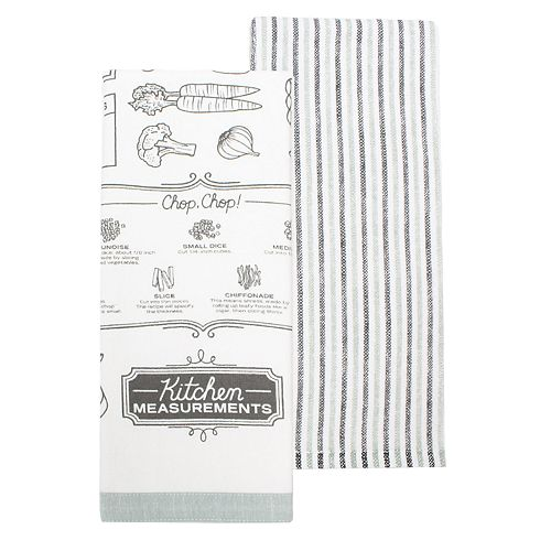 "Food Network™ ""Kitchen Measurements"" Kitchen Towel 2-pack"