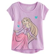 Disney's Tangled Rapunzel Toddler Girl Slubbed Glitter Graphic Tee by Jumping Beans®