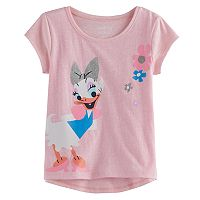 Disney's Daisy Duck Toddler Girl Slubbed Glitter Graphic Tee by Jumping Beans®