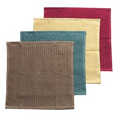Food Network™ Solid Chevron Dishcloth 4-pack