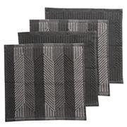 Food Network™ Solid & Striped Dishcloth 4 pk