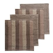 Food Network™ Solid & Striped Dishcloth 4 pk