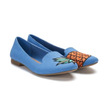 SO® Anchovy Women's Pineapple ... Ballet Flats