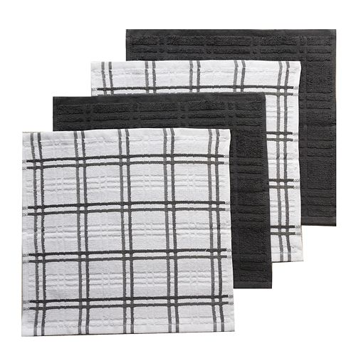 Food Network™ Plaid Dishcloth 4-pack