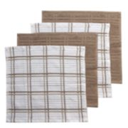 Food Network? Plaid Dishcloth 4-pack