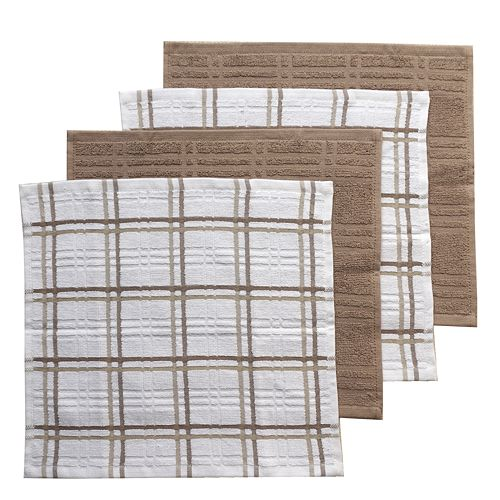 Food Network™ Plaid Dishcloth 4-pk.