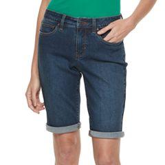 Petite Croft & Barrow® Denim Bermuda Shorts