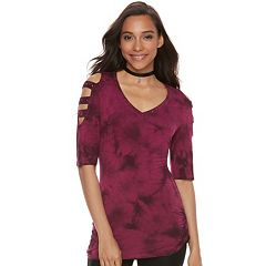 Women's Rock & Republic® Embellished Cold-Shoulder Cutout Tee
