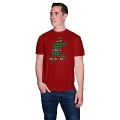 Big & Tall Disney's Mickey Mouse Silhouette Holiday Tee