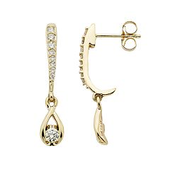 Sirena Collection 14k Gold 1/3 Carat T.W. Diamond Linear Teardrop Earrings