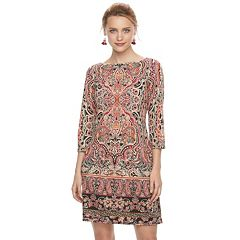 Women's Suite 7 Boatneck Shift Dress