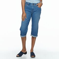 Petite Croft & Barrow® Cuffed Denim Capris