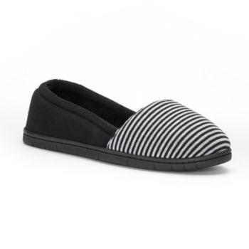Women's Dearfoams Mini Stripe ... A-Line Slippers