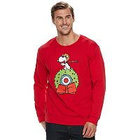 Big & Tall Peanuts Snoopy Flying Ace Fleece Holiday Sweatshirt