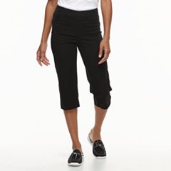 Petite Croft & Barrow® Classic Stretch Twill Capris