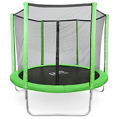 Pure Fun Dura-Bounce 8-Foot Trampoline & Enclosure Net Set