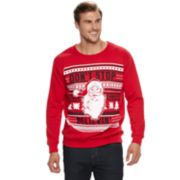 "Big & Tall Santa ""Don't Stop Believin'"" Fleece Holiday Sweatshirt"