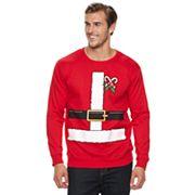 Big & Tall Santa Suit Fleece Holiday Sweatshirt
