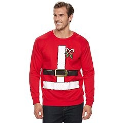Big & Tall Santa Suit Fleece Holiday Sweatshirt