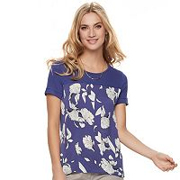 Women's Apt. 9® Printed Mixed-Media Tee