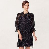 Women's LC Lauren Conrad Chiffon Shirtdress
