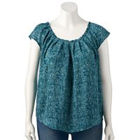 Plus Size LC Lauren Conrad Pleated Top