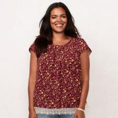 Plus Size LC Lauren Conrad Pleated Top