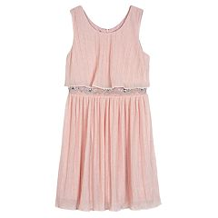 Girls 7-16 IZ Amy Byer Textured Rhinestone Dress