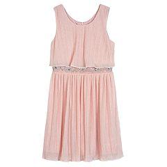 Girls 7-16 IZ Amy Byer Textured Rhinestone Dress