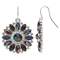 Mudd® Marquise Stone Nickel Free Round Drop Earrings