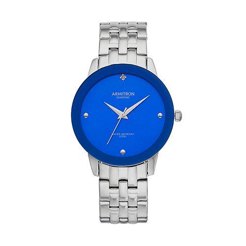 Armitron Men's Diamond Accent Stainless Steel Watch - 20/4952BLSVK