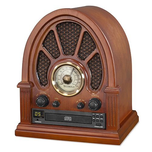 Victrola Vintage Wooden Bluetooth Radio with CD Player