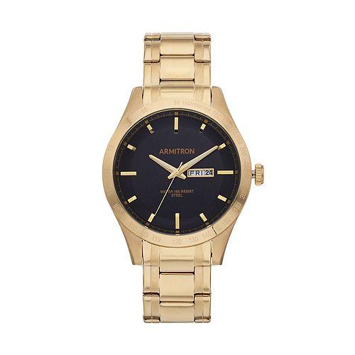 Armitron Men's Stainless Steel Watch - 20/5174BKGP