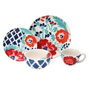 Baum Medallion Floral 16 pc Dinnerware Set