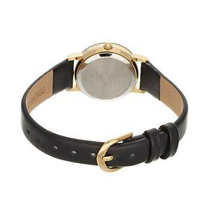 Armitron Women's Diamond Accent Leather Watch - 75/2447BLKK
