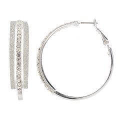 Mudd® Glittery Nickel Free Multi Hoop Earrings
