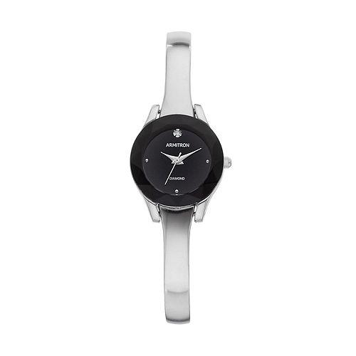 Armitron Women's Diamond Accent Half Bangle Watch - 75/5327BKSVK