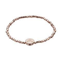 LC Lauren Conrad Cube Bead Monogram Stretch Bracelet