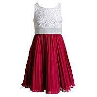 Girls 7-16 Emily West Lace & Pleated Chiffon Skirt Dress