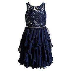 Girls 7-16 Emily West Glitter Cascade Skirt Dress