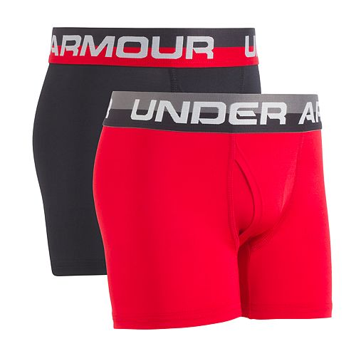 Boys 7-20 Under Armour 2-Pack Performance Boxer Briefs