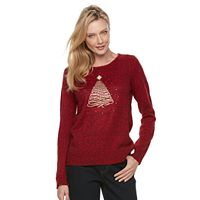 Women's Croft & Barrow® Marled Christmas Sweater
