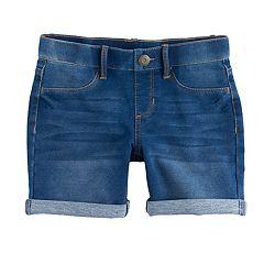 Girls 7-16 & Plus Size SO® Rolled Cuff Midi Shorts